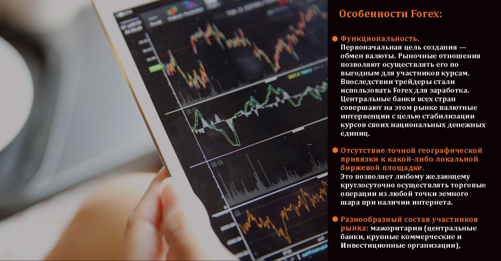 Основные особенности биржи Форекс