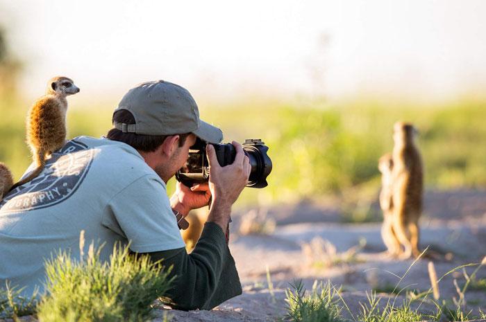 фотограф на охоте