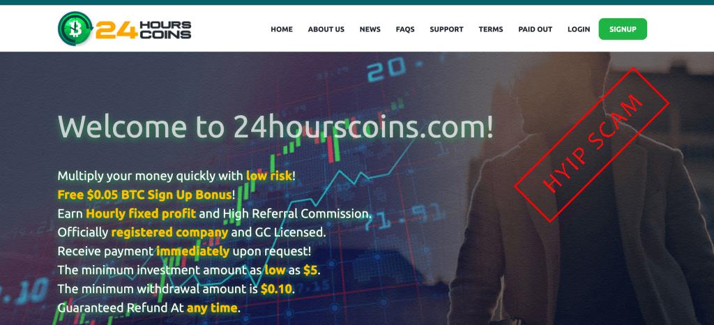 Актуальная информация о проекте 24hourscoins