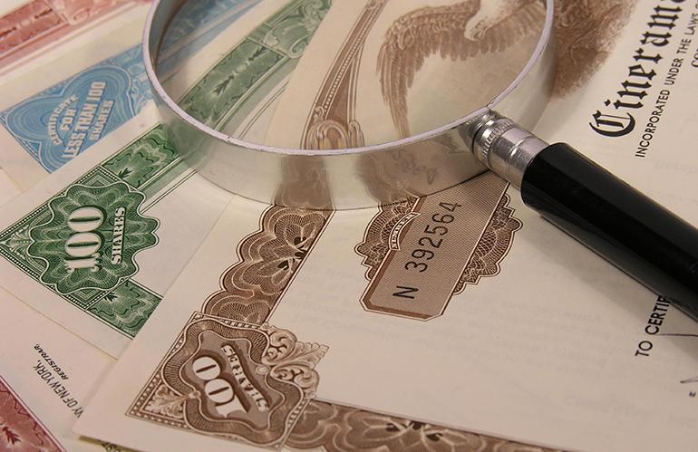 Число ценных бумаг